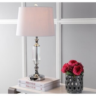 """Bella 27"""" Crystal LED Table Lamp, Clear"""