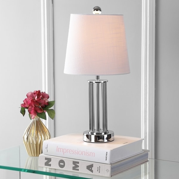 "Lillian 18"" Metal Mini LED Table Lamp, Chrome by JONATHAN Y"