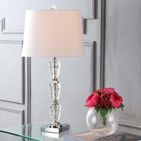 """Ellie 28"""" Crystal LED Table Lamp, Clear by JONATHAN Y"""