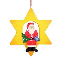 Christian Ulbricht Holiday Christmas Home Decor Santa Claus Star Ornament