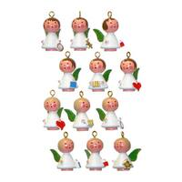 Christian Ulbricht Holiday Christmas Home Small Angels Ornament, Set Of 12