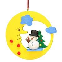 Christian Ulbricht Holiday Christmas Home Decor Snowman In Moon Ornament