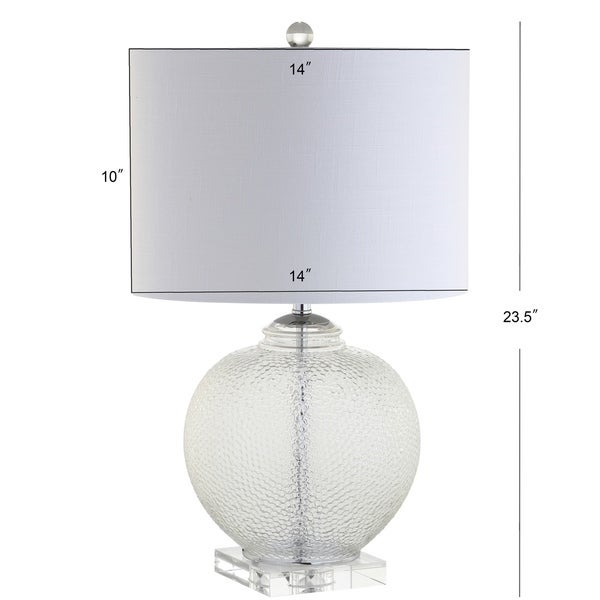 "Avery 24"" Glass / Crystal LED Table Lamp, Clear by JONATHAN Y"