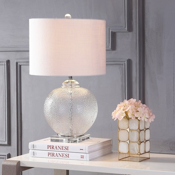 """Avery 24"""" Glass / Crystal LED Table Lamp, Clear"""