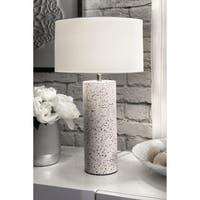 "Watch Hill Contemporary 20"" Valentina Concrete & Marble Cotton Shade Table Lamp - 20"" h x 12"" w x 12"" d"