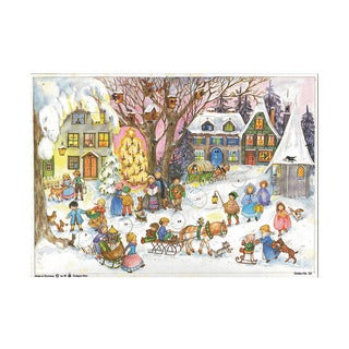 Sellmer Holiday Seasonal Decor Small Village scene with Carolers Advent