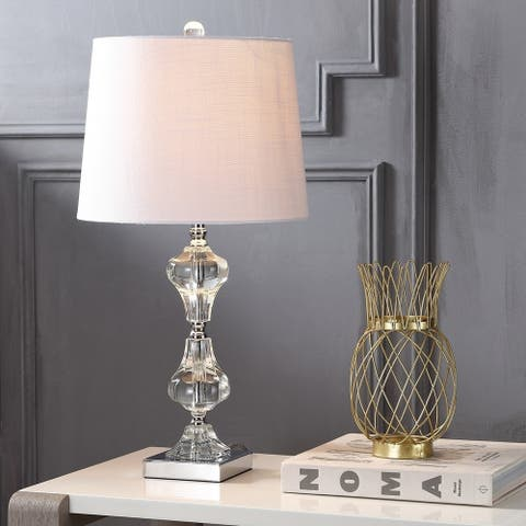 "Chloe 26"" Crystal LED Table Lamp, Clear by JONATHAN Y"