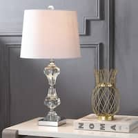 "Chloe 26"" Crystal LED Table Lamp, Clear"