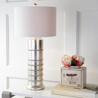 """Evelyn 31"""" Resin LED Table Lamp, Silver"""
