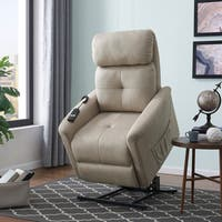 ProLounger Stone Nubuck Power Recline and Lift Chair