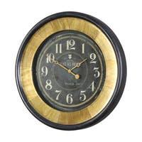 Uttermost Lannaster Black and Gold Wall Clock