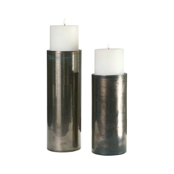 Uttermost Amala Iridescent Candleholders (Set of 2)