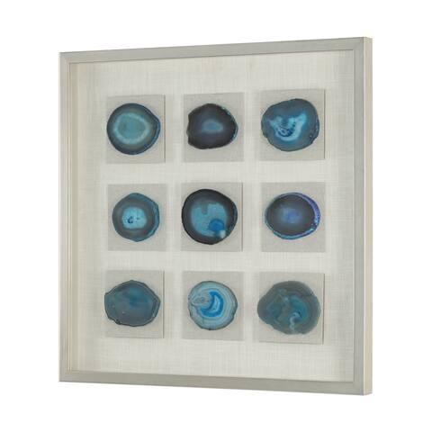 Uttermost Cerulean Blue Stone Shadow Box