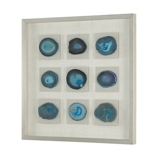 Uttermost Cerulean Blue Stone Shadow Box