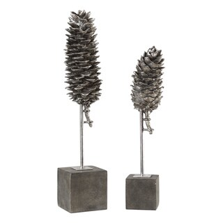 Uttermost Longleaf Pine Cone Sculptures (Set of 2)