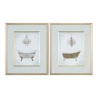 Uttermost Gilded Bath Prints (Set of 2)