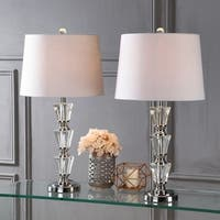 "Layla 27"" Crystal LED Table Lamp, Clear (Set of 2) by JONATHAN  Y"