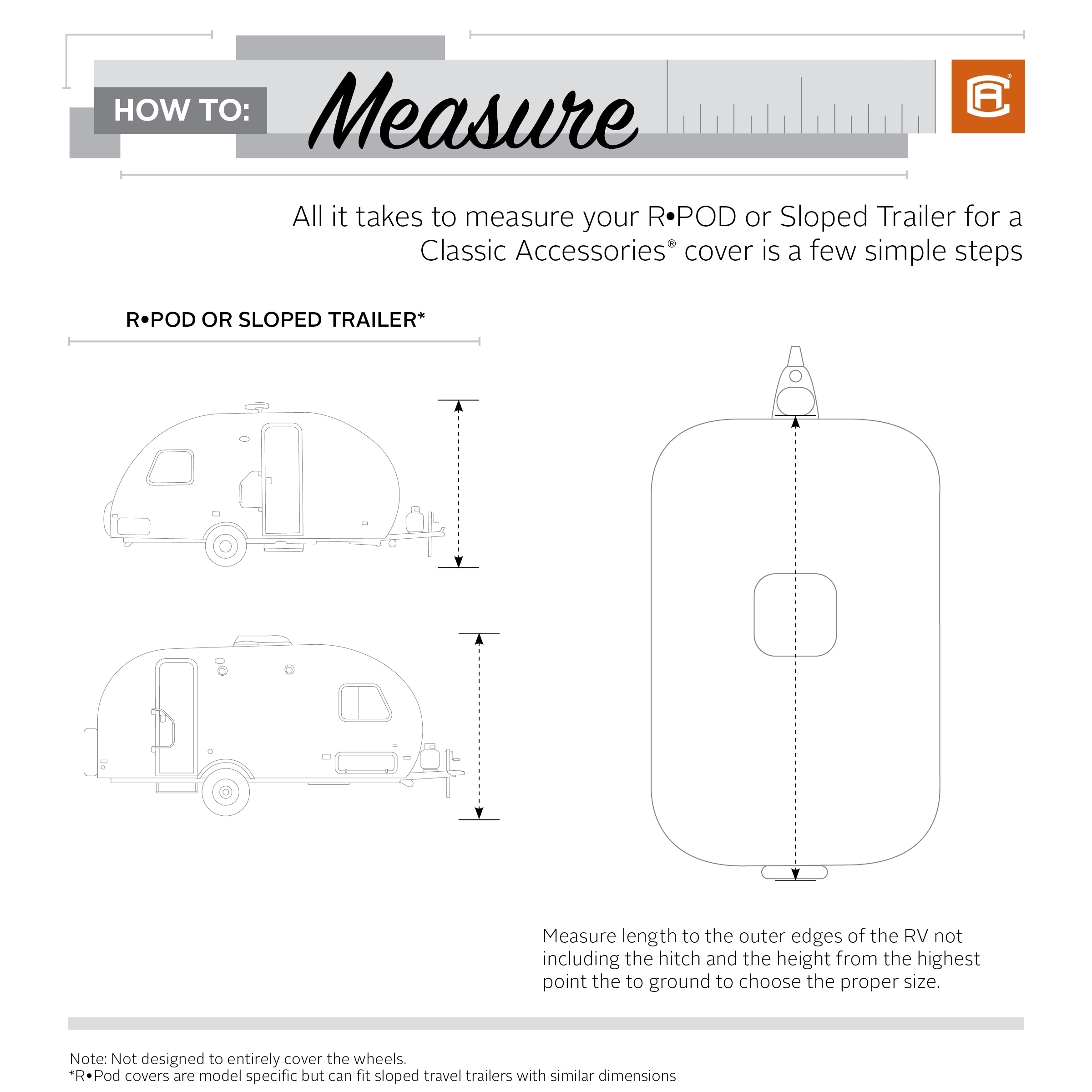"""Poly Pro 3 Teardrop Cover Fits R-Pod Fits up to 16/' 6/"""" Length Trailer"""