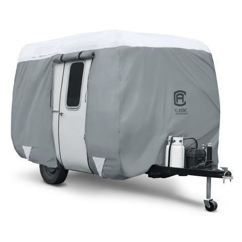 Classic Accessories OverDrive PolyPRO 3 Molded Fiberglass Travel Trailer Cover, Fits 11' - 13' Trailers