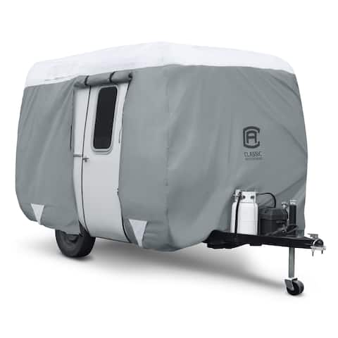 Classic Accessories OverDrive PolyPRO 3 Molded Fiberglass Travel Trailer Cover, Fits 8' - 10' Trailers