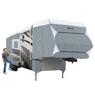 Classic Accessories OverDrive PolyPRO 3 Deluxe Extra Tall 5th Wheel Cover or Toy Hauler Cover, Fits 37' - 41' RVs