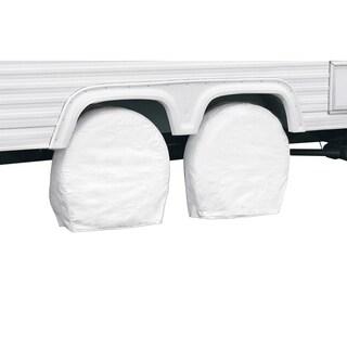 Classic Accessories 76270 RV Wheel Covers, Snow White