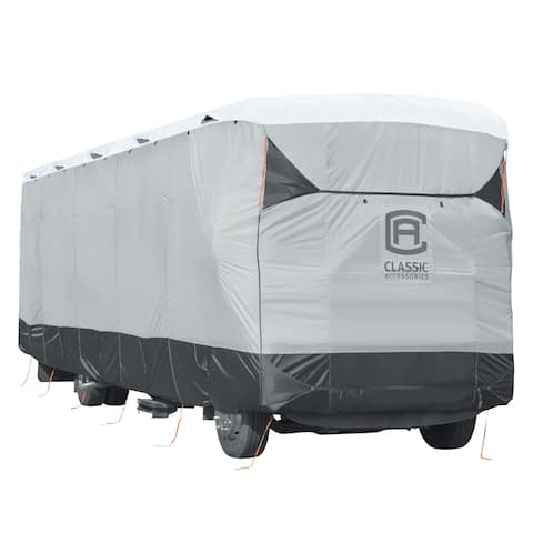 Classic Accessories OverDrive PolyPRO 3 Deluxe Travel Trailer Cover or Toy Hauler Cover, Fits 27' - 30' RVs