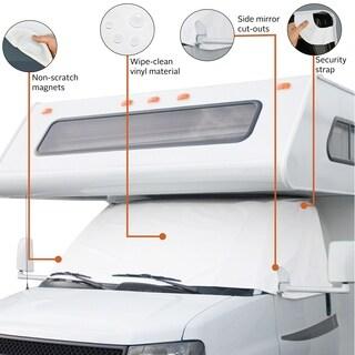 Classic Accessories 78634 RV Windshield Cover, White