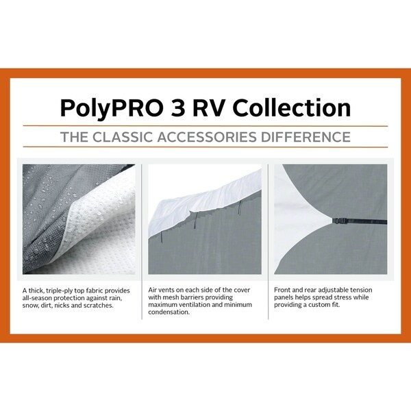Fits Up To 20 RVs Classic Accessories OverDrive PolyPro 3 Deluxe Class B RV Cover