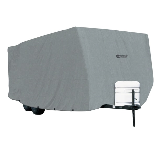 "Classic Accessories 80-215-211001-00 PolyPRO1 Travel Trailer RV Cover, fits Travel Trailers 35 foot to 38 foot L, 118"" Max H"