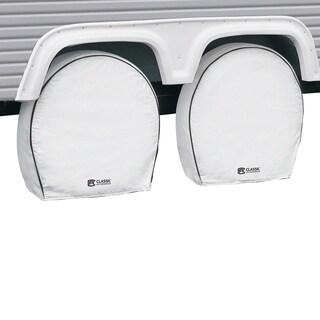 Classic Accessories 80-220-142302-00 Deluxe RV Wheel Cover, White