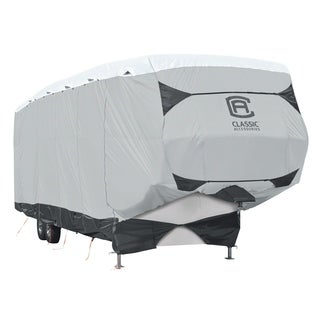 Classic Accessories OverDrive SkyShield™ Deluxe Tyvek® 5th Wheel Trailer Cover, Fits 29' - 33' Trailers