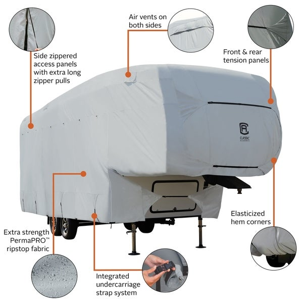 Classic Accessories OverDrive PermaPro Heavy Duty Cover for 33 to 37 5th Wheel Trailers