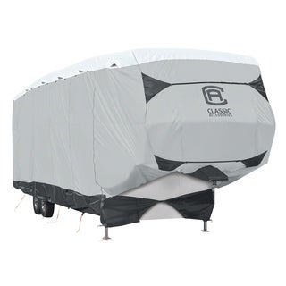 Classic Accessories OverDrive SkyShield Deluxe Tyvek 5th Wheel Trailer Cover Fits 33 37 Trailers
