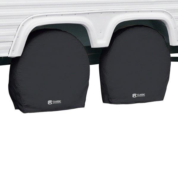 Classic Accessories 80-237-150401-00 RV Wheel Cover, Black