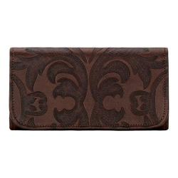 Women's American West Baroque Tri-Fold Wallet Chestnut