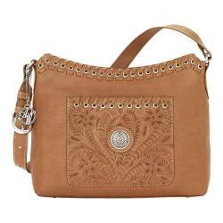 Women's American West Harvest Moon Zip-Top Shoulder Bag Golden Tan