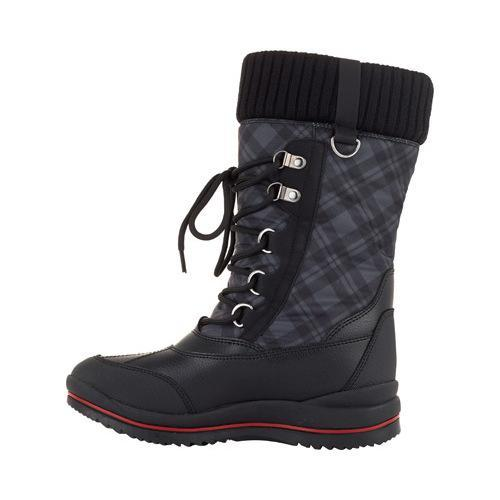 ... Women's Cougar Como Waterproof Boot Black Plaid Visage Nylon