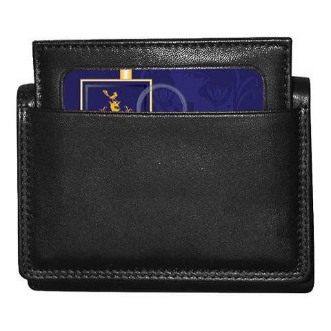 Men's Buxton Emblem ID Three-Fold Black