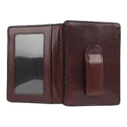 Men's Bosca Old Leather Front Pocket I.D. Wallet Dark Brown