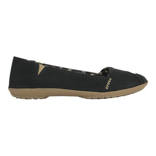 complete in specifications info for buy best Women's Crocs Angeline Flat Black/Khaki | Overstock.com Shopping - The Best  Deals on Slip-ons