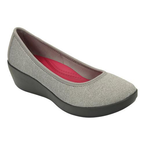 de09cd694 Shop Women s Crocs Busy Day Heathered Ballet Wedge Light Grey - Free  Shipping Today - Overstock - 17228204