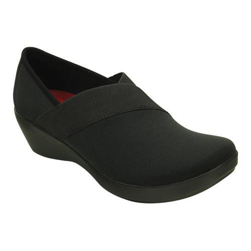 13470b43d27 Shop Women s Crocs Busy Day Stretch Asymmetrical Wedge Black Black - Free  Shipping On Orders Over  45 - Overstock - 17228206