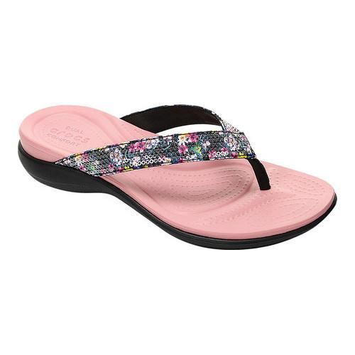 cb866b38446 Shop Women s Crocs Capri V Graphic Sequin Flip Flop Sandal Cashmere Rose -  Free Shipping On Orders Over  45 - Overstock - 17228216