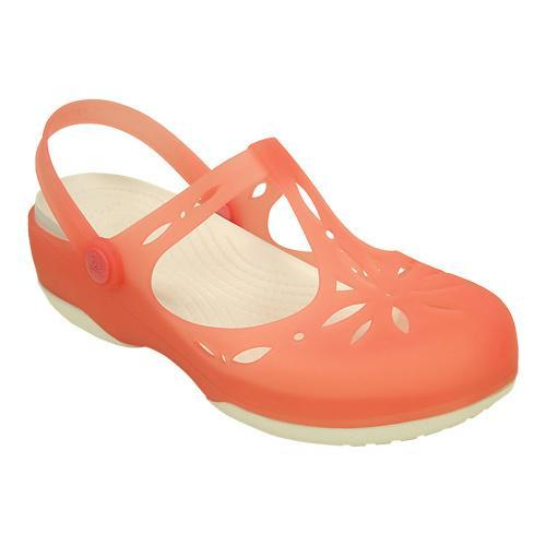 648a64762032f Shop Women s Crocs Carlie Cutout Clog Coral Oyster - Free Shipping On  Orders Over  45 - Overstock - 17228222