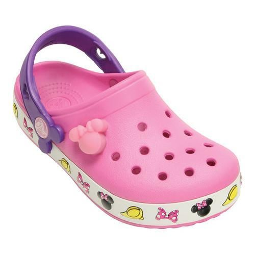 ce0420690e02 Shop Girls  Crocs Crocband Minnie Clog Kids Party Pink - Ships To ...