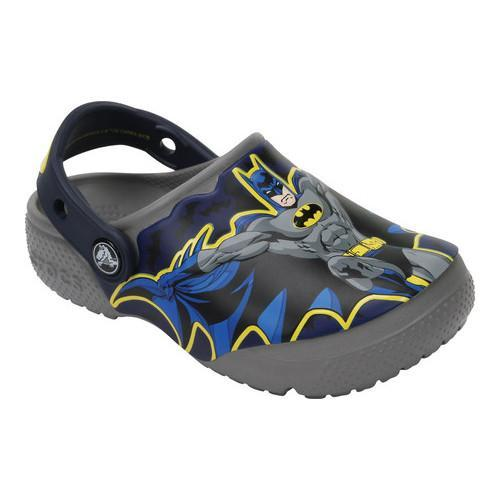 f32769f5d3f7f7 Shop Boys  Crocs CrocsFunLab Batman Clog Juniors Smoke - Free Shipping On  Orders Over  45 - Overstock - 17228280