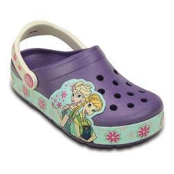 Girls' Crocs Crocslights Frozen Fever Clog Kids Blue Violet