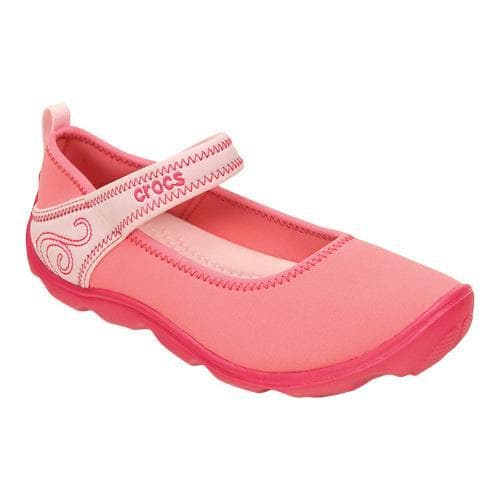 eafd38f6affa02 Shop Girls  Crocs Duet Busy Day Mary Jane GS Coral Ballerina Pink - Free  Shipping On Orders Over  45 - Overstock - 17228323
