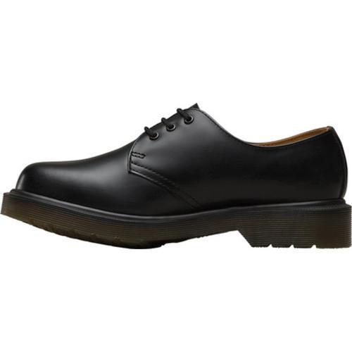 1461 Plain Welt Black Smooth 3 Eyelet Shoe